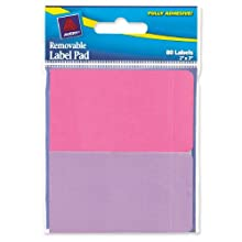 Avery Removable Label Pad, 2 x 3 Inches, Assorted Neon, 80 Labels  (22016)