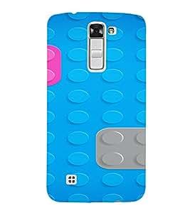 PrintVisa Lego Block Pattern 3D Hard Polycarbonate Designer Back Case Cover for LG K10