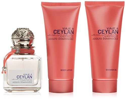 Adolfo Dominguez Viaje A Ceylan Eau De Toilette Spray 100ml Set 3 Parti