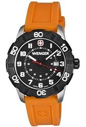 Wenger Roadster Black Dial Orange Strap