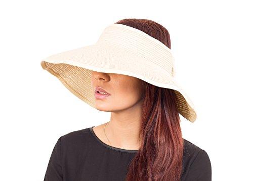 fashion-wide-brim-visor-style-straw-summer-beach-hat-adjustable-white