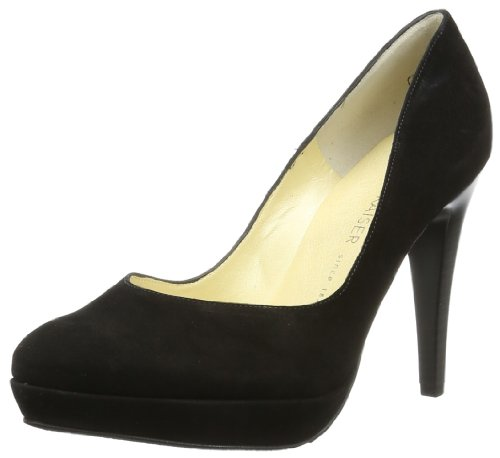 Peter Kaiser Womens NIXE Closed Black Schwarz (SCHWARZ SUEDE) Size: 35.5
