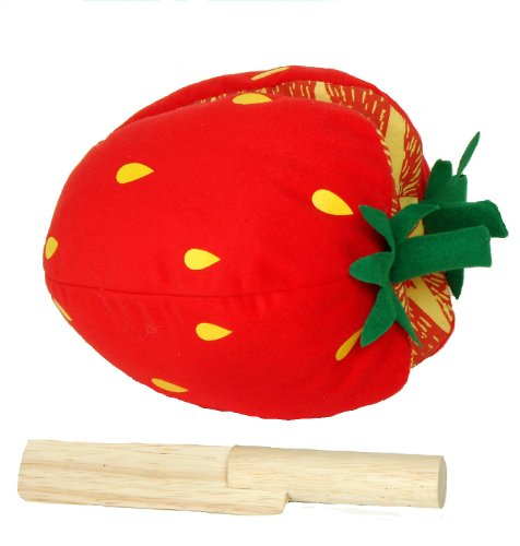 Plush Strawberry and Wooden Knife (Child's Play Library)