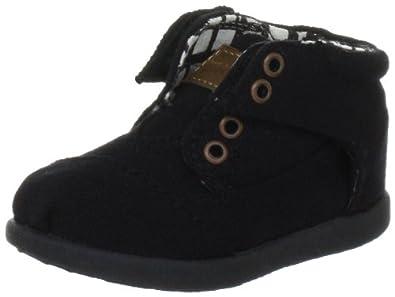 Toms - Tiny Black Canvas Botas Kids Shoes, Size: 6 M US Toddler, Color