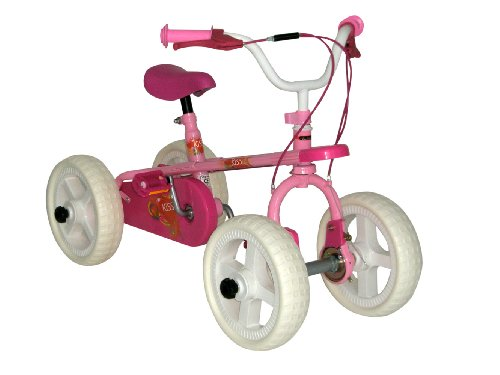 Quadrabyke Kiss Three Bikes in One - Pink, 12-Inch