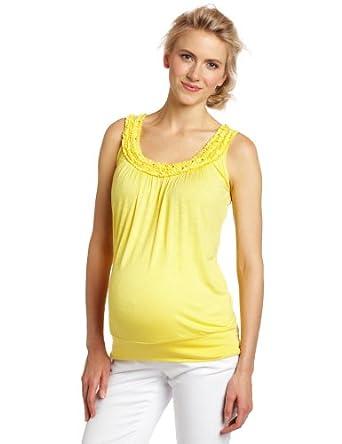 Three Seasons Maternity Women's Sleeve Tank Top, Pineapple, X-Large