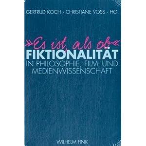 eBook Cover für  34 Es ist als ob 34 Fiktionalit xE4 t in Philosophie Film und Medienwissenschaft