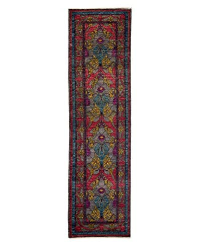 Darya Rugs Crafts Hand-Knotted Rug, Silver, 2' x 7 x 10' 2 Runner