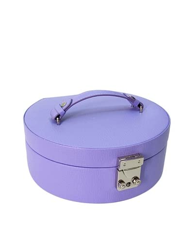Morelle & Co. Linda Half Moon Leather Jewelry Box, Violet Tulip