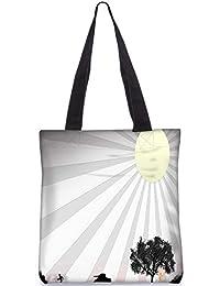 Snoogg Sun Rays Digitally Printed Utility Tote Bag Handbag Made Of Poly Canvas