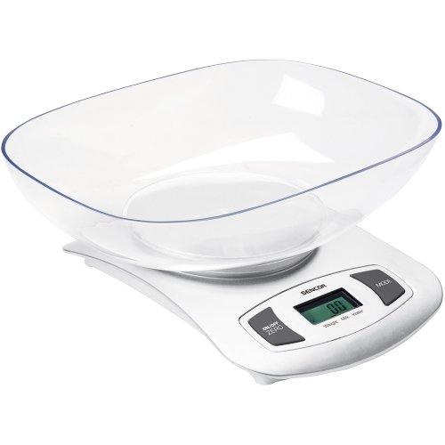 Sencor 41000372 SKS 4001WH Balance de Cuisine avec Plateau Blanc