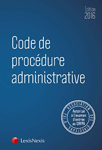 Code de la justice administrative spécial CRFPA