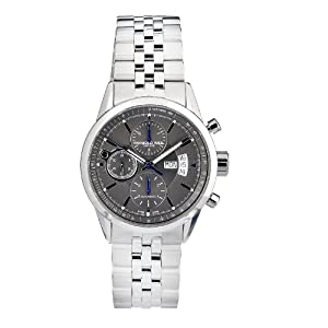 Raymond Weil Men's 7730-ST-60021 Automatic Stainless Steel Grey Dial Color Chronograph Watch