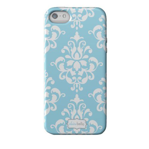 Great Sale Elibrium Style 365 Extra Durable Designer Case for iPhone 5, Damask Blue