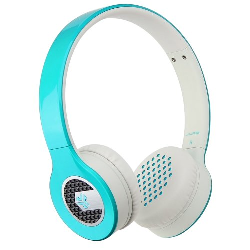 Jlab Supra, Sleek Stereo On-Ear Headphones With Cable And Universal Mic (Blue)