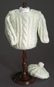 Winter White Skying Sweater & Hat ~ Hand Made Fits 18 Inch American Girl Dolls