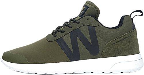 Wesc Men's Men's Olive Running Shoes In Size 44.5 Green
