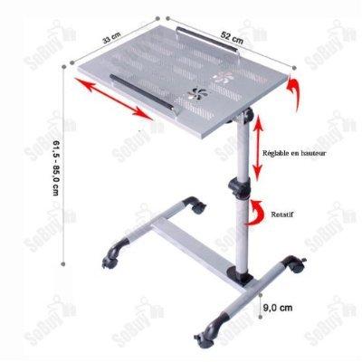 Sobuy mesa auxiliar con ruedas mesas de centro mesas para portatiles mesitas de noche - Mesas para ordenadores portatiles ...
