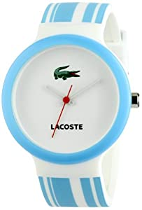 Lacoste Goa White and Blue Stripe Polyurethane Unisex Watch 2010541