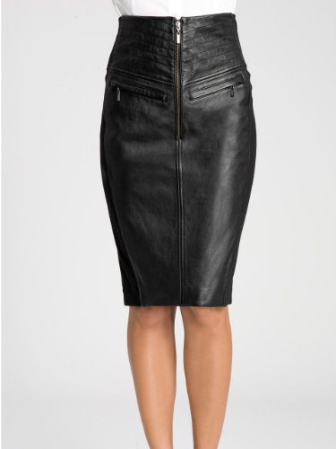 GUESS by Marciano Annais High-Waist Leather Pencil Skirt