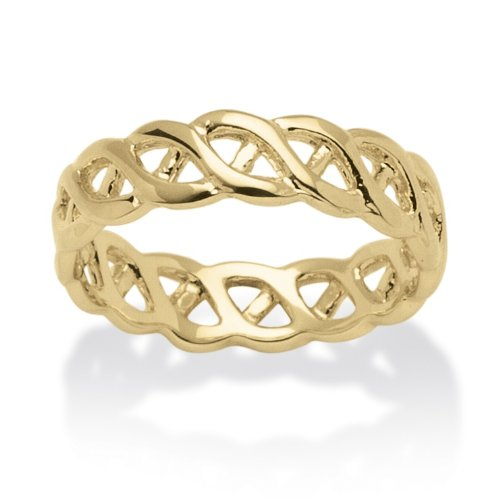PalmBeach Jewelry 14k Yellow Gold-Plated Braided Band