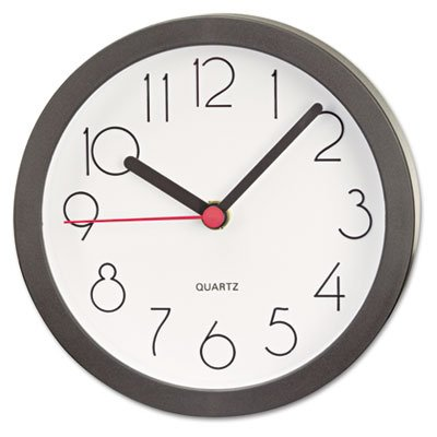 Universal Cubicle Clock, 6In, Black