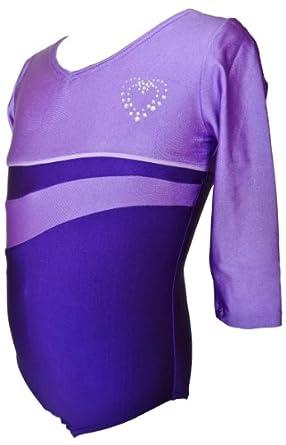 Buy Talent Tale Girls Purple 3 4 Sleeve Leotard Size XS 4 5 - S 6 6X - M 7 8 - L 10 12 by Talent Tale
