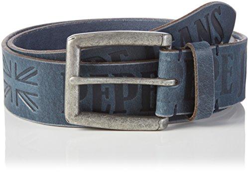Pepe Jeans Sauco Belt-Cintura Uomo, Blu (Navy), 90 cm