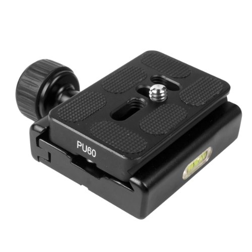 Clamp With 1/4 to 3/8 Adapter + Quick Release Plate For Tripod Ball Head DC379