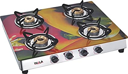 Injla P-404 Manual Gas Cooktop (4 Burner)