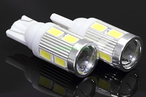 New 2 Bulbs T10 Samsung Projector 6 Led Light Bulbs Auto Replacement Lighting White Super Bright Car Light Bulb 194 168 2825 W5W 147 152 158, 159, 161 184 192 193 2881 Compare To Sylvania Osram Phillips L186-71