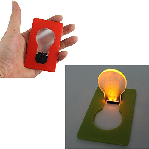 Ezyoutdoor 2 pcs Camping Outdoor Survival LED credit Card Light Pocket Card Light put in Purse Wallet