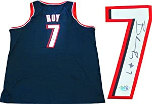 Brandon Roy Autographed Portland Trail Blazers Authentic Black Jersey by Hollywood Collectibles