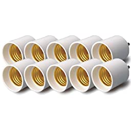 Onite 100-Pack of GU24 to E26 Adapter - Converts your Pin Base Fixture (GU24) to US Standard Screw-in Bulb Sockets (E26)