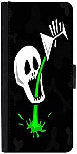 Snoogg Skull Drinking Poison 2787 Designer Protective Phone Flip Case Cover For Apple Iphone 5 / 5S