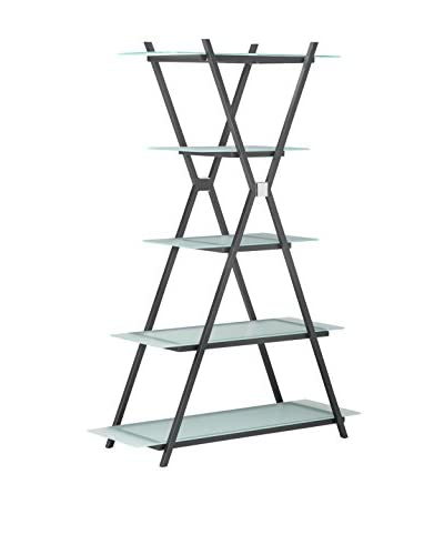 Zuo Xert Narrow Shelf, Smoke Grey