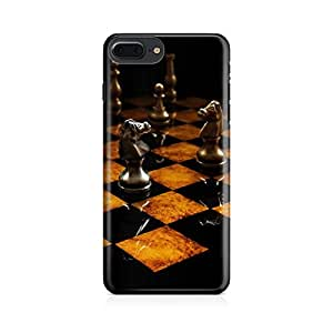 Motivatebox-Apple Iphone 7 plus cover-Chess game Polycarbonate 3D Hard case protective back cover. Premium Quality designer Printed 3D Matte finish hard case back cover.