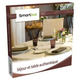 Coffret cadeau Smartbox - Séjour et table authentique