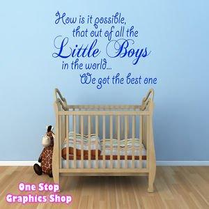 1stop Graphics Shop Best Little Boy Wall Art Quote