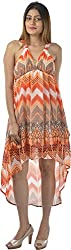 HotShot Women's Polyester V-Neck Dress (RH030, X-Large)