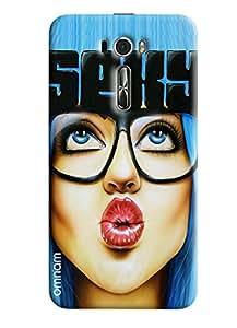 Omnam Girl Giving Pout Printed Designer Back Cover Case For Asus Zenfone 2 (601KL)