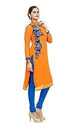 Shivam Women's Georgette Kurti (DGD25_Multi-Coloured_38)