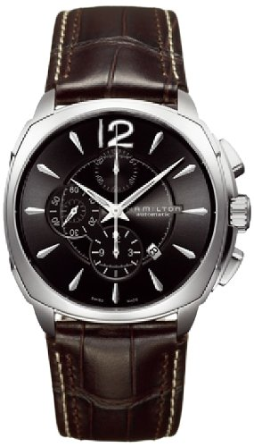 Hamilton Men's H36516535 Jazzmaster Black Dial Cushion Watch