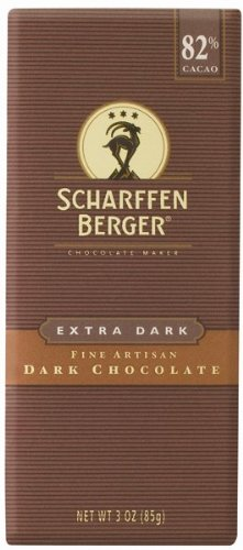 Scharffen Berger Chocolate Bar, Extra Dark (82% Cacao), 3-Ounce Packages (Pack of 6)