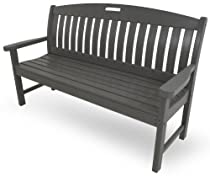 Hot Sale POLYWOOD NB60GY Nautical Bench, 60-Inch, Slate Grey