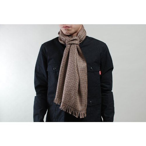 [ラルフローレン]RALPH LAUREN CLASSIC MERCE RIZED GENTS SCARF ブラウンチェック 219
