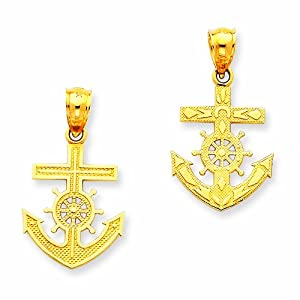 14k Mariners Cross Pendant