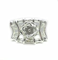 Sterling Silver Handmade Wire and Rose Figure Ring (10)