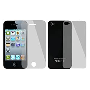 3 in 1 Set Back Front Clear Screen Protectors for iPhone 4 4S
