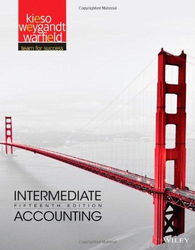 Intermediate accounting 14th